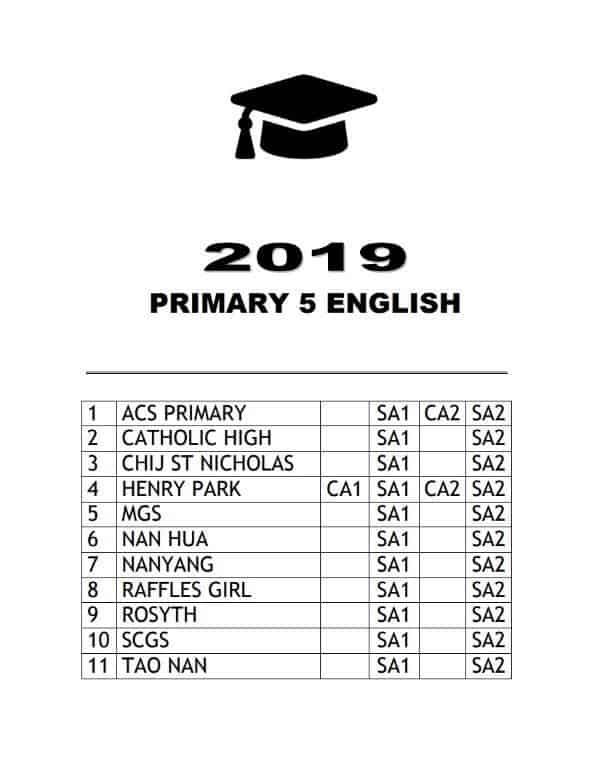 buy 2019 primary 5 exam papers test papers 14