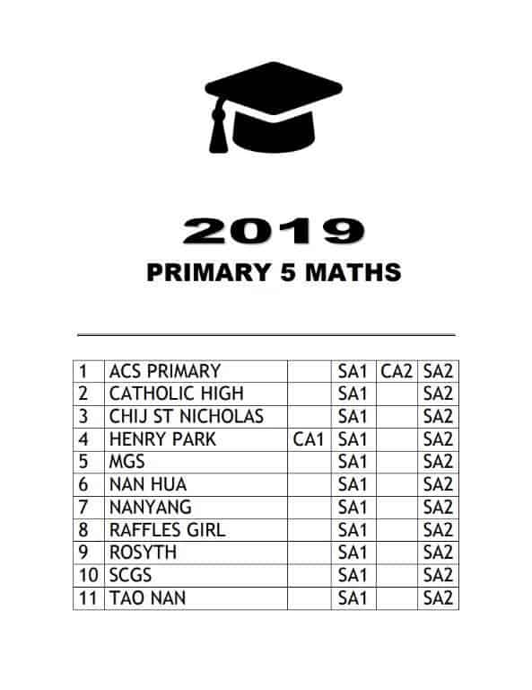 buy 2019 primary 5 exam papers test papers 15
